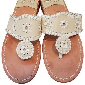 Bone White Jack Rogers Palm Beach Sandals